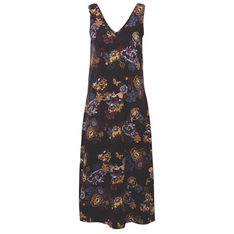 Padma Midi Dress - Black Print