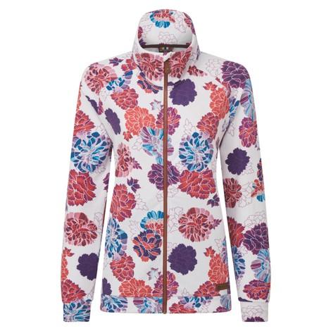 Zehma Full Zip Jacket Katha White Print
