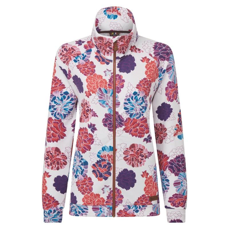 Zehma Full Zip Jacket - Katha White Print