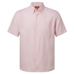 Schoffel Country Thornham Short Sleeve Classic Shirt in Pale Pink