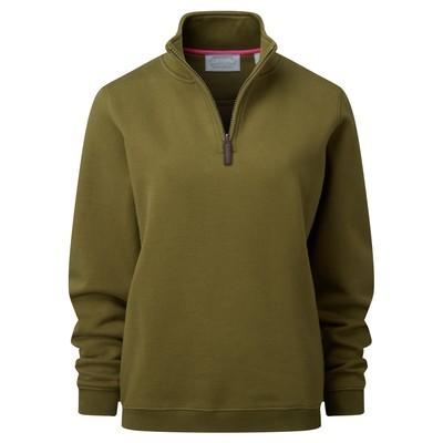 Ladies 1/4 Zip Sweatshirt Artichoke
