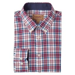 Schoffel Country Healey Tailored Shirt in Bordeaux