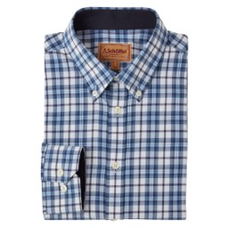 Schoffel Country Healey Tailored Shirt in Sea Blue