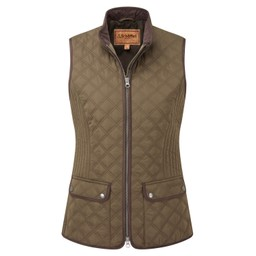 Schoffel Country Ladies Quilt Gilet in Olive