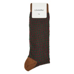 Schoffel Country Houndstooth Sock in Toffee