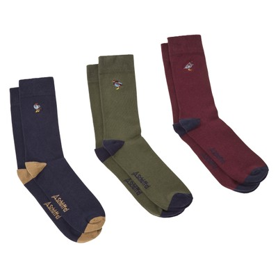 Combed Cotton Sock (Box of 3) French Partridge Navy Mix