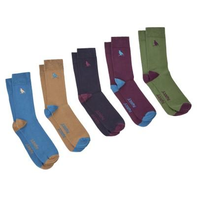 Combed Cotton Sock (Box of 5) Ptarmigan Dark Teal Mix