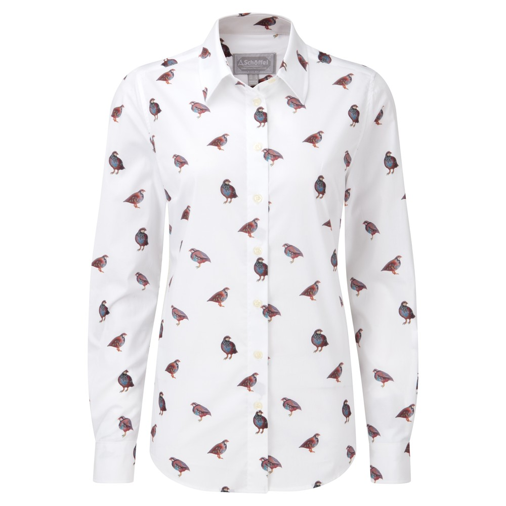 Norfolk Shirt French Partridge Print