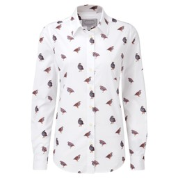 Schoffel Country Norfolk Shirt in French Partridge Print