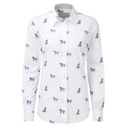Schoffel Country Norfolk Shirt in Spaniel Print