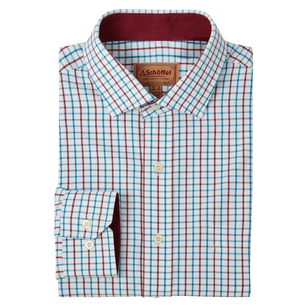 Milton Tailored Shirt Bord/D Teal