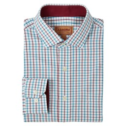 Schoffel Country Milton Tailored Shirt in Bord/D Teal