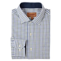 Schoffel Country Milton Tailored Shirt in Racing/Navy