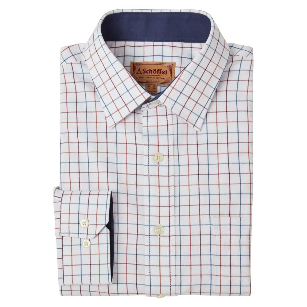 Burnham Tattersall Classic Shirt Bordeaux Check