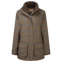 Schoffel Country Ladies Ptarmigan Tweed Coat in Iona Tweed