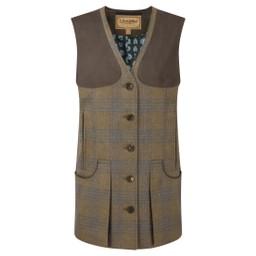 Schoffel Country Ladies Tweed Shooting Vest in Iona Tweed