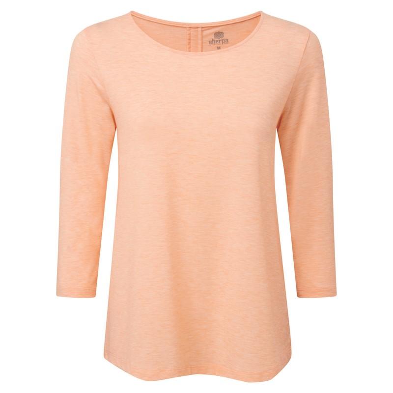 Asha 3/4 Sleeve Top - Lapsi Orange