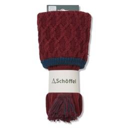 Schoffel Country Lattice Sock in Bordeaux