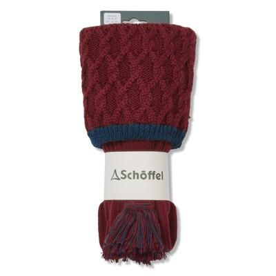 Lattice Sock Bordeaux