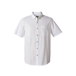 Royal Robbins Mid-Coast Seersucker S/S Shirt in White