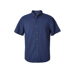 Royal Robbins Mid-Coast Seersucker S/S Shirt in Collins Blue