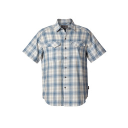 Royal Robbins Merinolux Plaid S/S Shirt in Lt Pelican
