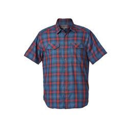 Royal Robbins Merinolux Plaid S/S Shirt in Blue Stone