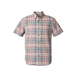 Royal Robbins Mid-Coast Seersucker Plaid L/S Shirt in North Atlantic