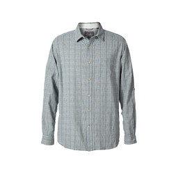 Royal Robbins Cool Mesh Plaid L/S Shirt in Sky Grey