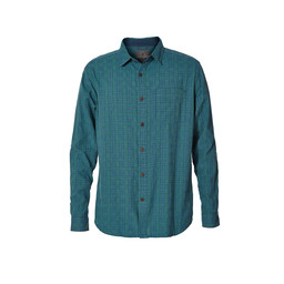Royal Robbins Cool Mesh Plaid L/S Shirt in Blue Stone