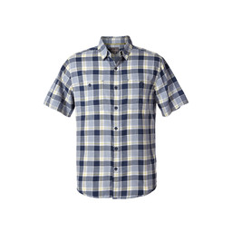 Royal Robbins Point Reyes Plaid II S/S Shirt in Collins Blue