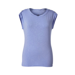 Royal Robbins Noe Twist S/S Top in Pale Iris
