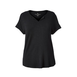 Royal Robbins Noe Cap Sleeve Tee in Jet Black