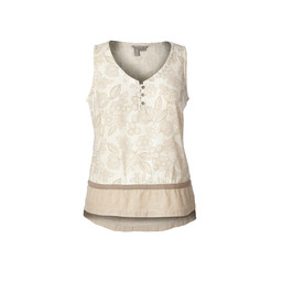 Royal Robbins Cool Mesh Eco-Tank Print in Creme Flower Print