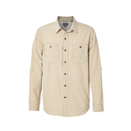 Royal Robbins Long Distance Traveler L/S Shirt in Lt Khaki