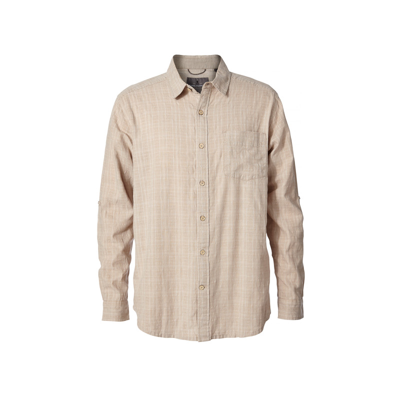 Cool Mesh Plaid L/S Shirt