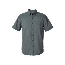 Royal Robbins Mid-Coast Seersucker S/S Shirt in North Atlantic