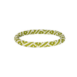 Two Colour Roll on Bracelet Gokarna Green