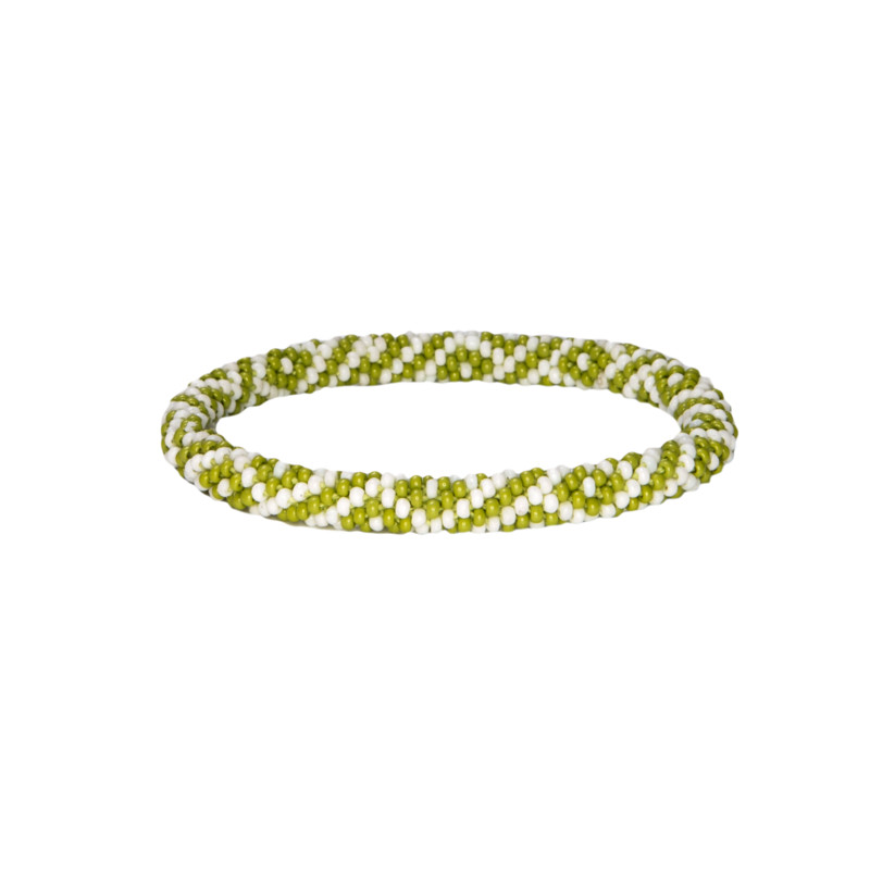 Two Colour Roll on Bracelet - Gokarna Green