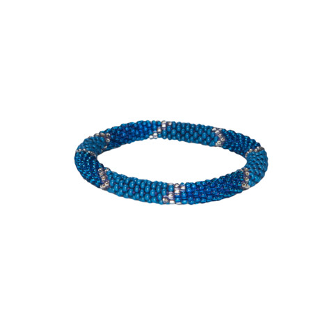 Sherpa Adventure Gear Mayalu Ikat Roll on Bracelet in Blue Tara