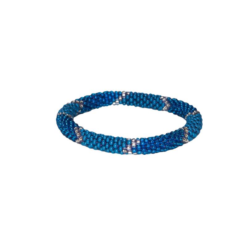 Mayalu Ikat Roll on Bracelet - Blue Tara