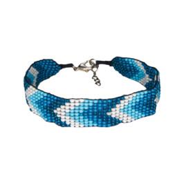 Mayalu Chevron Bracelet Blue Tara