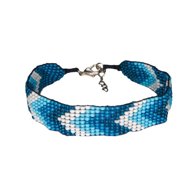 Mayalu Chevron Bracelet - Blue Tara