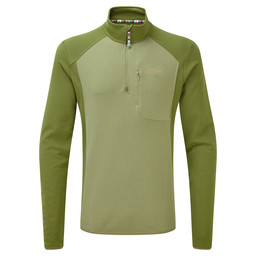 Sherpa Adventure Gear Tsepun Zip Tee in Koshi Green