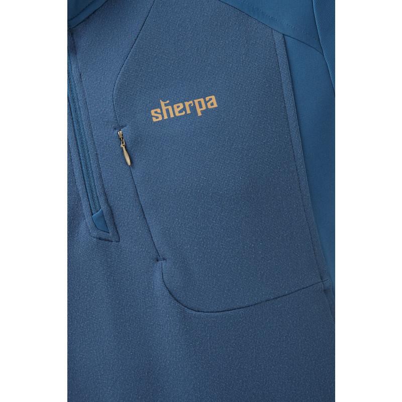 Tsepun Zip Tee - Samudra Blue