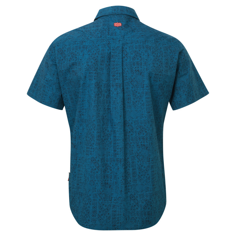 Durbar Short Sleeve Shirt - Samudra Blue