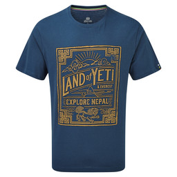 Sherpa Adventure Gear Yeti Tee in Samudra Blue