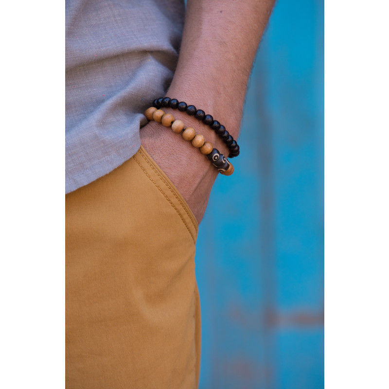 Mala Three Stone Bracelet - Tan