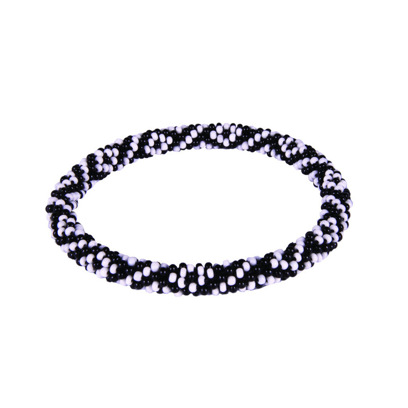Two Colour Roll on Bracelet - Black
