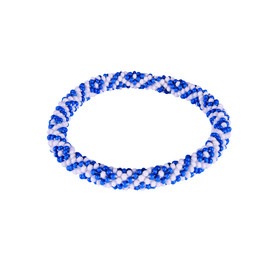 Two Colour Roll on Bracelet Blue Tara